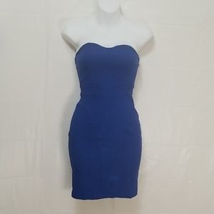 Fitted Royal Blue Strapless dress